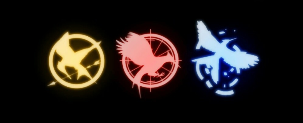 Neon Hunger Games Symbols Shared By Ffion On We Heart It