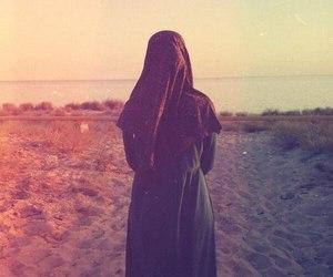 hijab, islam, and sun image