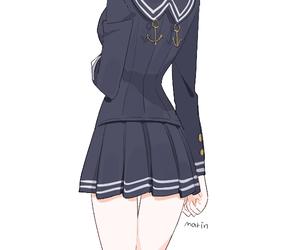 anime girl, fashion, and seifuku image