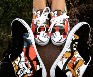 couple, minnie mouse, and pluto image