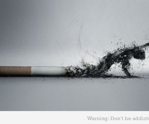 smoke, cigarette, and smoking image