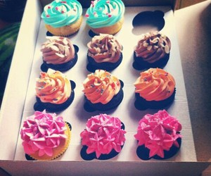 cupcakes, food, and sweet image