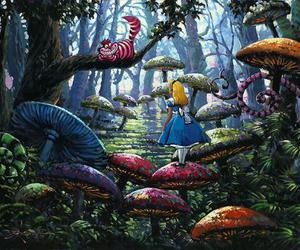 disney and alice in wonderland image