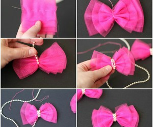 bow, diy, and pretty image