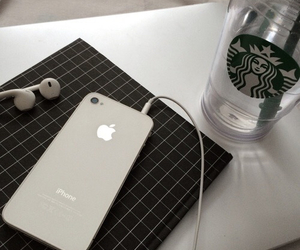 iphone, starbucks, and grunge image