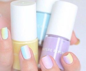 nails, pastel, and nail goals image