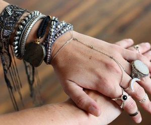 black, jewelry, and rings image