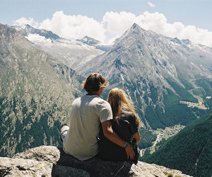 couple, love, and mountains image
