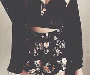 black, flowers, and lovely image