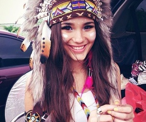 girl, indian, and beauty image
