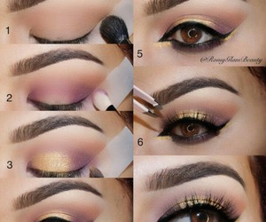 makeup, eyes, and goals image