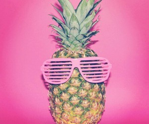 pink, pineapple, and glasses image