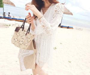 asian, bag, and beach image