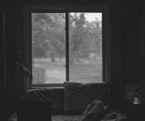 rain, bed, and room image