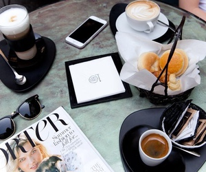 coffee, food, and magazine image