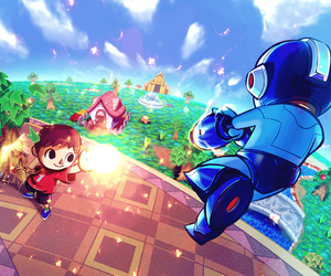 megaman, super smash brothers, and villager image