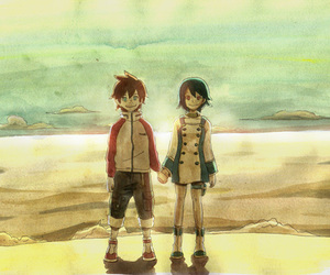anime, boy, and best friends image