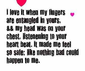 love, quote, and safe image