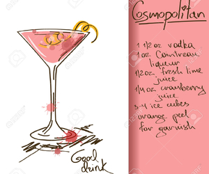 alcohol, cosmopolitan, and drink image