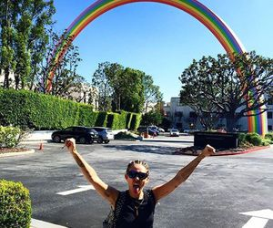 miley, miley cyrus, and rainbow image