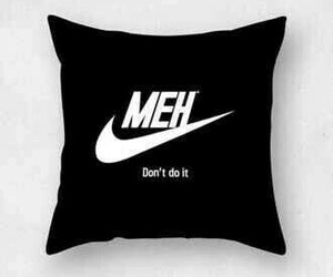 nike, pillow, and meh image