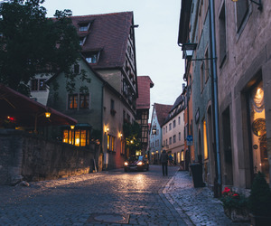 street, evening, and Houses image