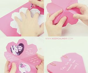 diy, heart, and pink image