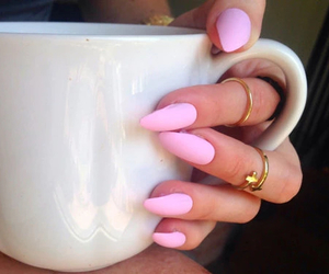 pink, nails, and cup image
