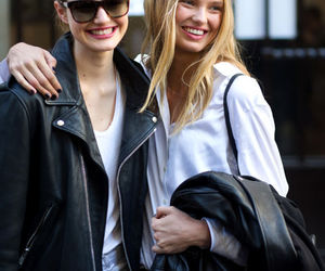 fashion, girls, and models off duty image
