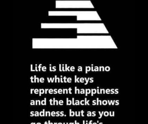 black, life, and piano image