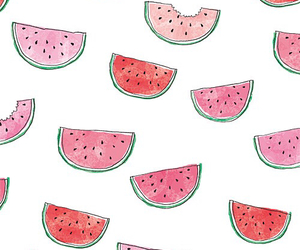 red, summer, and watermelon image