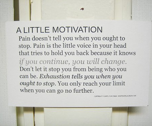 motivation, quote, and pain image