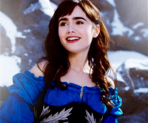 lily collins, princess, and snow white image