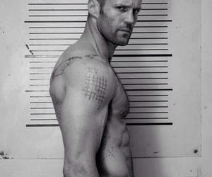 black&white, fashion, and Jason Statham image