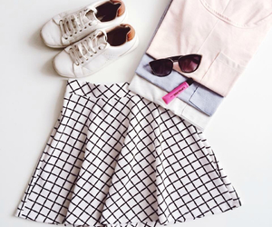 outfit, shirt, and sneakers image