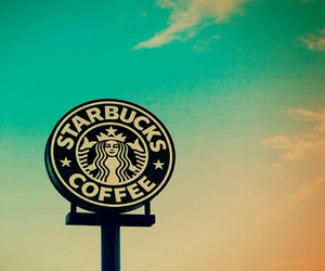 starbucks, coffee, and sky image
