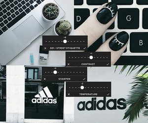 adidas, grunge, and vscocam image