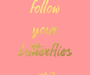 butterflies, gold, and inspiration image