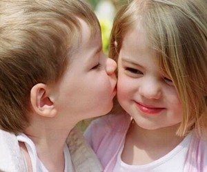 kiss, kids, and baby image