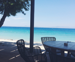 beach, crystal clear, and dinner image