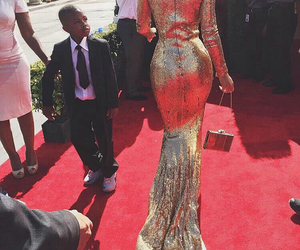 kylie jenner, dress, and gold image