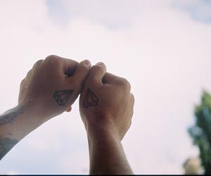 diamond, tattoo, and hands image
