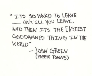 paper towns, john green, and quote image