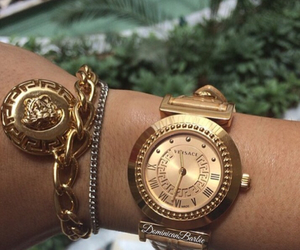 bracelet, watch, and gianni versace image