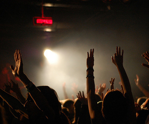concert, crowd, and hands image
