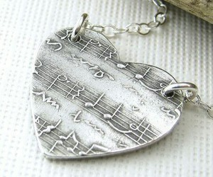 heart, music, and jewelry image