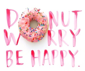 be, happy, and donut image