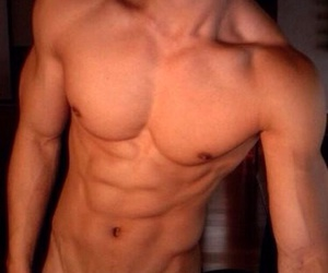abs, muscle, and boy image