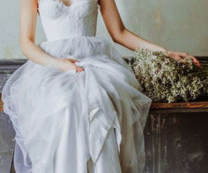 dress, wedding, and vintage image