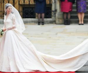 kate middleton, wedding, and dress image